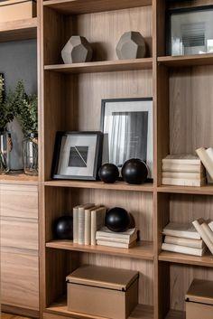Romklao interior shooting on behance pallet shelves, wood shelves, shelving, dini Home Interior, Interior Styling, Interior Design, Shelf Design, Cabinet Design, Modern Furniture, Furniture Design, Regal Design, Pallet Shelves