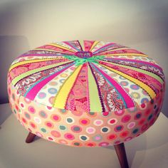 #FootStool #cushions #eclectic