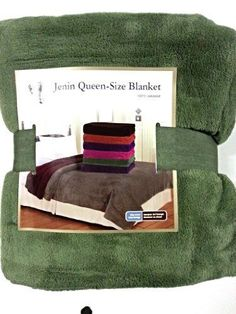 Queen Size Fleece Blanket Solid Sage Green Soft Plush Microfiber Throw Blankets -- Be sure to check out this awesome product.