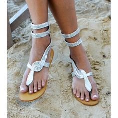 e4cc7d534f8761 Cobra Silver Wrap Sandalsrollover Shoes Sandals