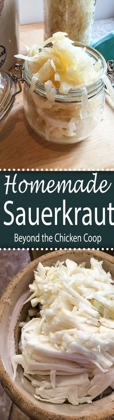 Homemade Sauerkraut. Directions for making your own fermented cabbage at home.