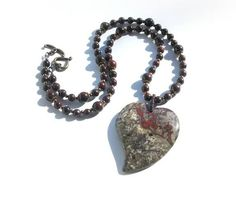 I just listed Bloodstone Heart Necklace- Courage on The CraftStar @TheCraftStar #uniquegifts