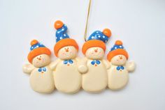 Personalized Snow Cap Family of 4.. Christmas by cyndesminis