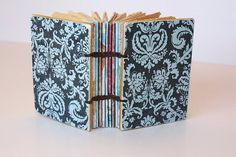 Small Handmade journal with Coptic Binding in by Thenibandquill, $25.00-Very pretty!