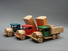 Old Timer Dump Truck image 2 Plywood Projects, Woodworking Projects, Kids Den, Wooden Truck, Airplane Toys, Wood Carving Designs, Wood Scraps, Dump Truck, Toy Trucks