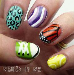 skittles nail art Shoe