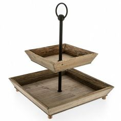 NATURAL SELECTION - 2 Tier Wooden Stand