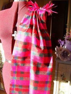 silk tartan reversible shoulder drape and matching clip