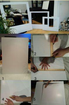 DIY CADRES POLAROID fait dans une plaque carton plume de 1m X 1m50