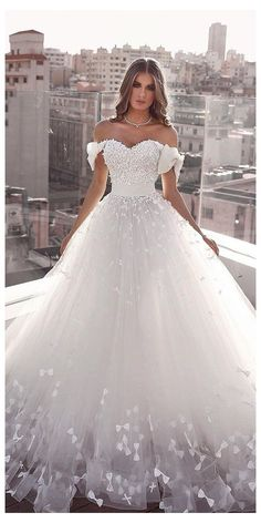 bridal dresses ball gown sweetheart neckline with bow and floral saidmhamadoffic. - bridal dresses ball gown sweetheart neckline with bow and floral saidmhamadofficial bridal dresses - Pretty Prom Dresses, Cute Wedding Dress, Wedding Dress Trends, Princess Wedding Dresses, Best Wedding Dresses, Ball Dresses, Bridal Dresses, Ball Gowns, Wedding Bride