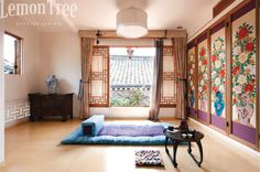 a bedroom in the hanok (Korean traditional house) hotel Chiwoonjung (한옥 취운정)