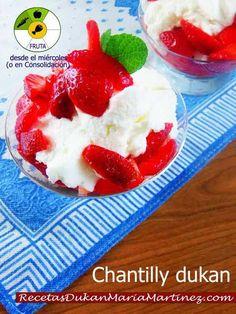 Chantilly Dukan con Fresas (NUEVA dieta Dukan 2015)