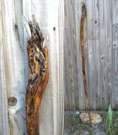 Wizard Staff Of Power Driftwood Staff OOAK Wizard Wiccan Fairy. $85.00, via Etsy.