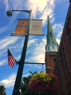 Local students created the hanging baskets in #chambersburg #community