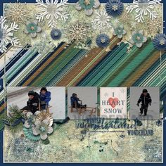 I heart Snow - Gotta Pixel Gallery Creative Team Layout with Pixel Club Products created with Winter Wishes by Mandy King