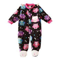 Ropa de Bebé Unisex Baby Girl Boy Footed Mamelucos Animal Bebé Mameluco Del Bebé de Lana de Manga Larga Ropa de Dormir Pijamas Del Bebé Recién Nacido