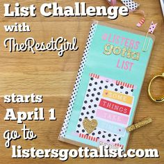 theresetgirl: It's here! The NEW list challenge #listersgottalist is now up and ready for you awesome planner girls! PLEASE REPOST THIS AND Go to ListersGottaList.com to download and print out the list prompts as well as a bonus download: title labels I use in my current setup! This challenge is starting APRIL 1 and now you have a few days to get yourself some supplies if you need them. And also? I filmed a video for setting up your own and how I decorated my new list book above. That will be up