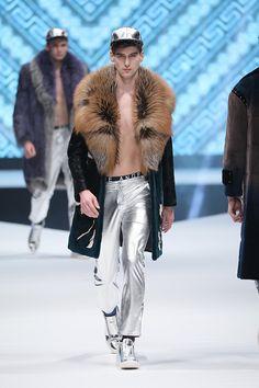 Hong Kong Fur Gala 2017 / Blue Angel Fur Co. Ltd. - Man in Coat with Fur Collar