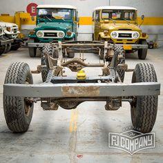 Chassis before restoration 1983 Toyota Land Cruiser FJ45 Mustard Yellow #fjco1983fj45yellow #fj45 #fjrestoration