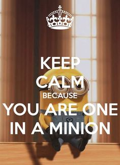 Keep Calm You're one in a Miniom