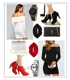 """""""opposites =^•^="""" by beanpod ❤ liked on Polyvore featuring Yves Saint Laurent and Lime Crime"""