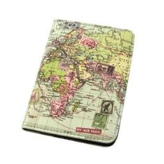 This Map Passport Cover made from faux leather is the perfect cover to personalise and protect your passport.