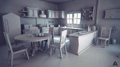Cartoon Kitchen WIP by AhmadTurk on DeviantArt Environment Concept Art, Environment Design, Motion Design, Cgi, Kitchen 3d Model, Kitchen Cartoon, Maya Modeling, Polygon Modeling, Episode Interactive Backgrounds