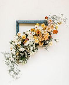 DIY boho floral fram