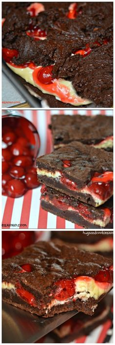 Black Forest Cheesecake Brownies ~ If you love black forest goodies then this recipe is for you!
