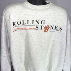 Vintage Rolling Stones 1997 1998 World Concert Tour Mens XL Crewneck Sweatshirt #LogoAthletic #SweatshirtCrew
