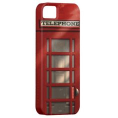 Vintage British Red Telephone Box Iphone 5 Case by #On_the_case