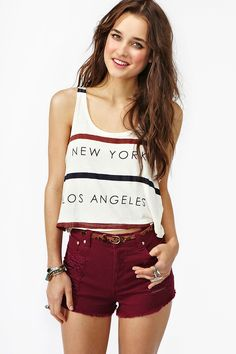 Rivalry Tank - Cream    Want!!!!  Sold out at Brandy Melville...but shows up 2x the times price on nastygal?////I think I need....