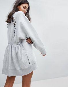Gigi Hadid Lace Back Sweat Dress