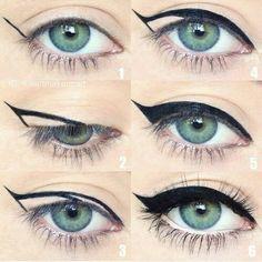 This cat-eye makeup tutorial makes getting the look easy! #easymakeuptutorial