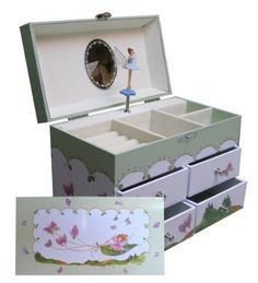 MK and Company Music Box, Butterfly Sleigh Decorative Boxes, Butterfly, Games, Toys, Music, Amazon, Home Decor, Musik, Amazon Warriors