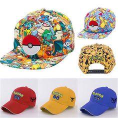 Pokemon Go Cap Hat Team Valor Team Mystic Team //Price: $12.00 & FREE Shipping //     #follow