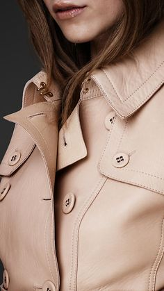 Leather corset trench jacket / Burberry Spring/Summer 2013