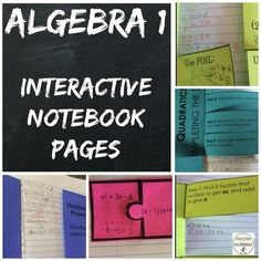 Interactive notebook pages are great for differentiation and comprehension. Use this bundle of notes and practice for Algebra 1 students to build their own Algebra 1 reference book. Websites For Students, Quotes For Students, Quotes For Kids, Algebra Interactive Notebooks, Maths Algebra, We Are Teachers, Education Quotes For Teachers, Secondary Math, Secondary Resources