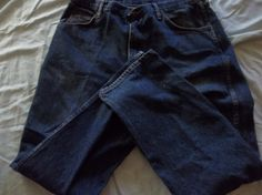 Wrangler Men's Blue Jeans Red Tag Dark Blue Jeans SIze 38x32 $22.00