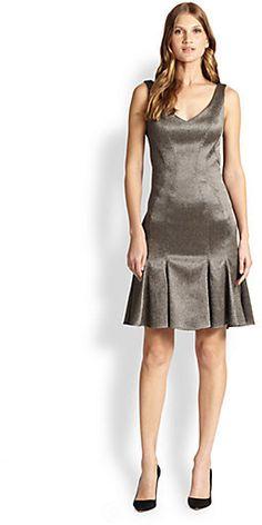 ZAC Zac Posen Bonnie Pebble Jacquard Dress