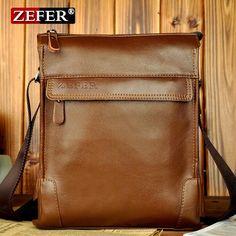 New Arrival fashion casual shoulder bag men business briefcase messenger brown vintage bag