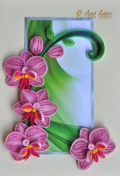 Printre hobby-uri: quilling, kusudama, origami, bijuterii handmade...: Quilling - Orchids (Orhidee)