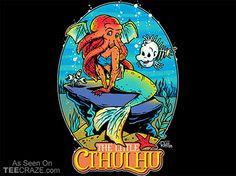 The Little Cthulhu T-Shirt - http://teecraze.com/the-little-cthulhu-t-shirt/ -  Designed by Captain_RibMan