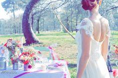 Shooting inspiration mariage Pink & Glitter wedding lace dress table flowers ribbon colors - La Mariée en colère   Fashion designer Confidentiel Creation  Modaliza photographe