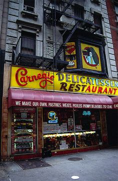 Carnegie Deli  best restaurant in nyc