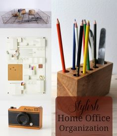 I have a theory that organization comes much more easily to those with a pretty place to keep everything — what do you think? Perhaps it's just me, lusting after a home office that's not a dining room table, but hey, a girl can dream! If you're looking to get organized for the New Year, check out these cute ideas below!