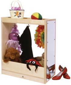 """30"""" High Toddler Dress Up Storage from Honor Roll Childcare Supply."""