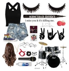 """Untitled #62"" by whoochu on Polyvore featuring Converse, Topshop, Domo Beads, H&M, Eos, tumblr, Inspired, grunge, PunkRock and 90sgrunge"