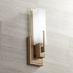 "Possini Euro Midtown 15""H Burnished Brass LED Wall Sconce - #8Y160 