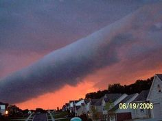 Sometimes before a storm arrives, or even out of the blue, a rare 'roll cloud' inspires awe as it floats overhead.